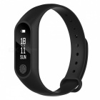 M2 Plus Waterproof Smart Bracelet with Heart Rate Monitor - Black