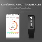 Eastor T3 ECG Heart Rate Blood Pressure Monitor Smart Bracelet - Black