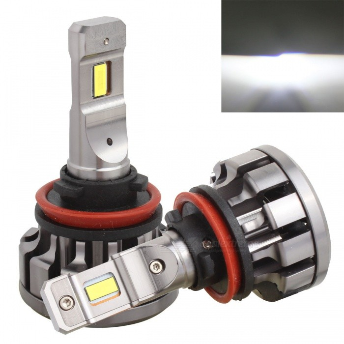 MZ H11 Low Beam 70W/set Car LED Conversion CAN-BUS Headlight Bulb KitHeadlights<br>Color BINH11 Cold WhiteModelV1+-H11Quantity1 setMaterialAluminumForm  ColorGreyEmitter TypeLEDChip BrandCreeChip TypeCSPTotal EmittersOthers,12PowerOthers,70W/setColor Temperature6000 KTheoretical Lumens1400 lumensActual Lumens12800 lumensRate Voltage12-24VWaterproof FunctionYesConnector TypeOthers,H8/H11ApplicationHeadlamp,Foglight,Others,Fog LightPacking List2 x LED Lights<br>