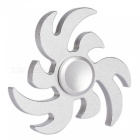 OJADE Flame Style Metal Hand Spinner Toy for ADHD Kids Adults - Silver
