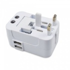 SZFC CN-103 AC Power Plug Travel Universal Charger with Dual USB Ports