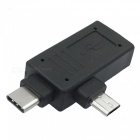Cwxuan Type-C, Micro USB to USB OTG Adapter for Smart Phones, Tablet