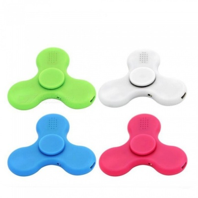 E-SMARTER LED Bluetooth Speaker Music Hand Fidget Spinners (4 PCS)