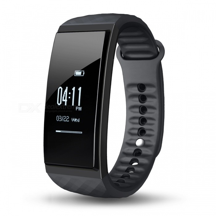 CUBOT S1 0.96 OLED Bluetooth V4.0 Smart Band Bracelet - BlackSmart Bracelets<br>Form  ColorBlack (CUBOT S1)ModelCUBOT S1Quantity1 pieceMaterialMedical-grade TPU + PC + metalShade Of ColorBlackWater-proofIP65Bluetooth VersionBluetooth V4.0Touch Screen TypeOthers,OLEDOperating SystemNoCompatible OSCompatible with Android 4.3 and above / iOS 8.0 and above Bluetooth V4.0 smart phonesBattery Capacity85 mAhBattery TypeLi-polymer batteryStandby Time7 daysCertificationCE, RoHS, WEEE, MSDS, FCCOther FeaturesLanguage: German, English, Spanish, French, Italy, Russian, Chinese.<br>Tips: slide or touch the screen can wake up S1 and the screen can be slided down or upPacking List1 x Smart Band1 x Charging Cable 1xUserManual<br>