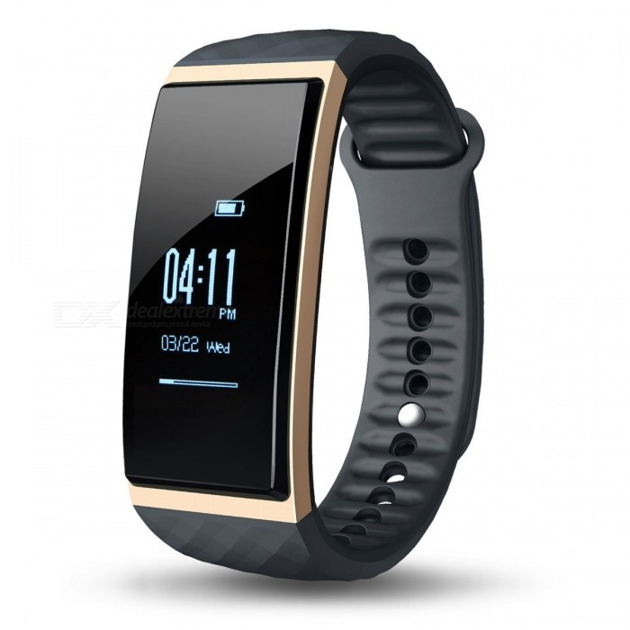 CUBOT S1  0.96 OLED Bluetooth V4.0 Smart Band Bracelet - GoldenSmart Bracelets<br>Form  ColorGolden (CUBOT S1)ModelCUBOT S1Quantity1 pieceMaterialMedical-grade TPU + PC + metalShade Of ColorGoldWater-proofIP65Bluetooth VersionBluetooth V4.0Touch Screen TypeOthers,OLEDOperating SystemNoCompatible OSCompatible with Android 4.3 and above / iOS 8.0 and above Bluetooth V4.0 smart phonesBattery Capacity80 mAhBattery TypeLi-polymer batteryStandby Time7 daysCertificationCE, RoHS, WEEE, MSDS, FCCOther FeaturesLanguage: German, English, Spanish, French,Italy, Russian, Chinese.<br>Tips: slide or touch the screen can wake up S1 and the screen can be slided down or upPacking List1 x Smart Band1 x Charging Cable 1 x User Manual<br>