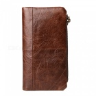 Stylish Top Layer Cowhide Leather Long Wallet Purse for Men