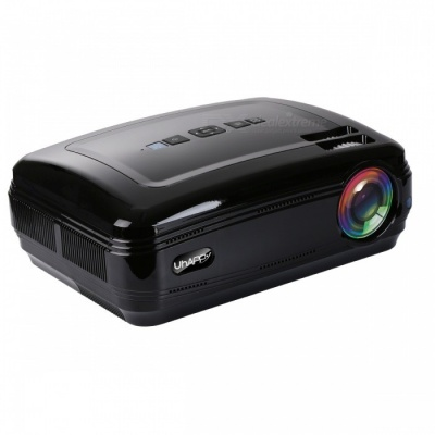 UHAPPY U58 PRO Android 6.0 LCD Projector with Bluetooth Wi-Fi- Black