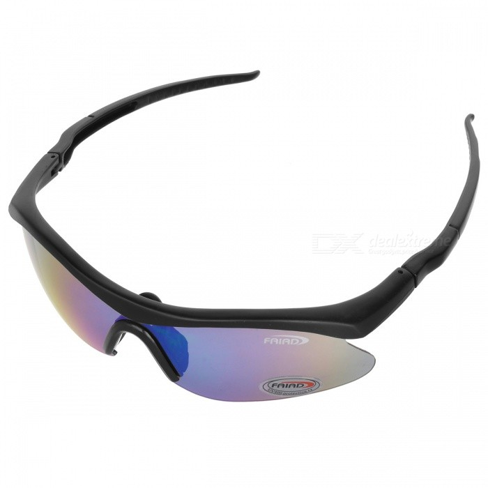 Outdoor Sports UV400 Protection PC Lens Solglasögon - Färgrik, Svart