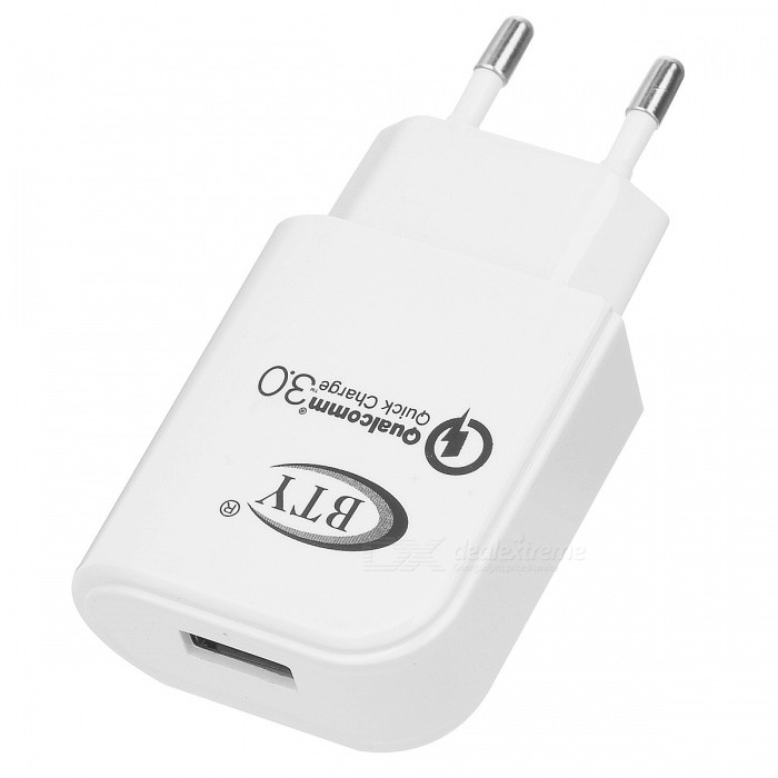 BTY M521F QC3.0 Quick Charge EU Plug Charger - White