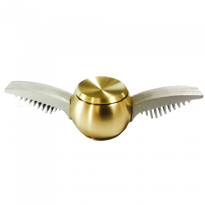 OJADE Harry Potter Quidditch Golden Snitch Shape Fidget Hand Spinner Toy