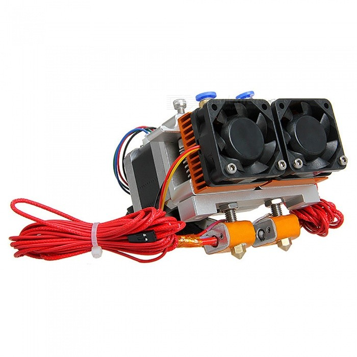 Geeetech MK8 Dual Extruder with Filament 1.75mm,  Nozzle 0.35mm3D Printer Parts<br>Form  ColorSilver + BlackModelMK8 Dual ExtruderQuantity1 setMaterialAluferEnglish Manual / SpecNoOther FeaturesFilament 1.75mm;<br>Nozzle 0.35mmPacking List1 x MK8 Dual Extruder<br>