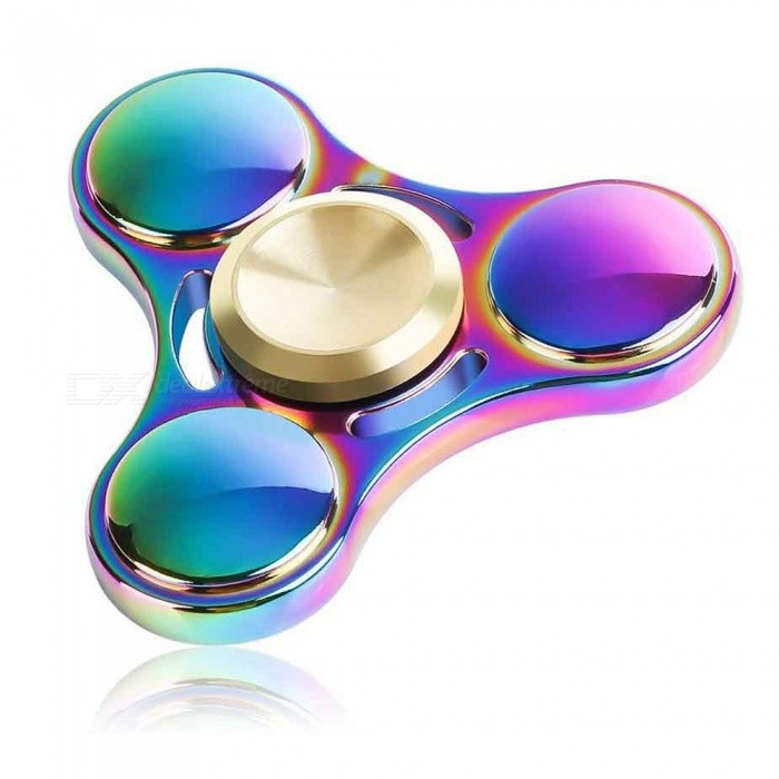 Dayspirit Triangle Finger Spinner Toy EDC Spinner à main-multicolore