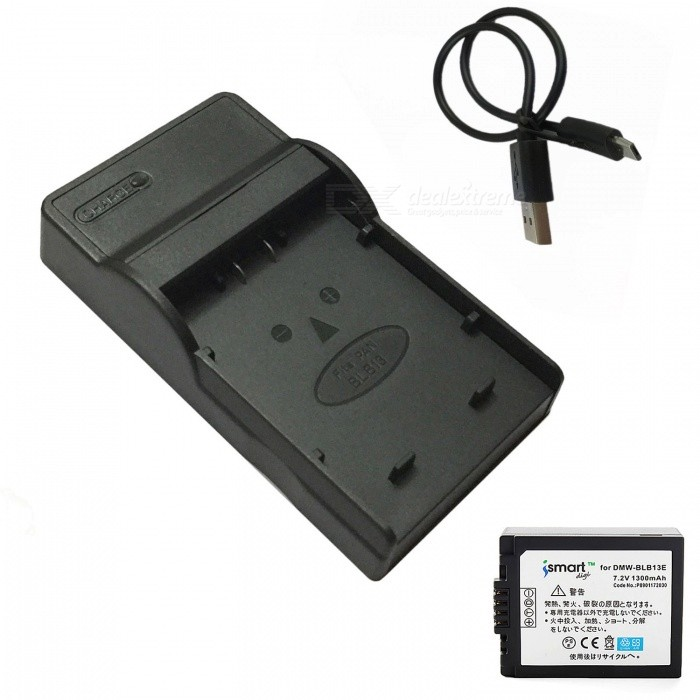 Ismartdigi BLB13 Battery with Micro USB Mobile Charger for Panasonic