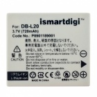 Ismartdigi DBL20 Battery with Micro USB Mobile Charger for Sanyo -Grey