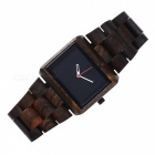 REDEAR 1620 Fashion Men's Style Business Ebony Wood Watch - Black