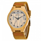 REDEAR 1448 Bamboo Wood Wrist Watch for Women - Light Yellow
