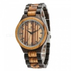REDEAR 1448002 Fashion Men's Style Sandalwood Relogio Watch - Black