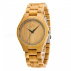 REDEAR 1448 Luxury Bamboo Wood Wrist Watch for Men - Yellow