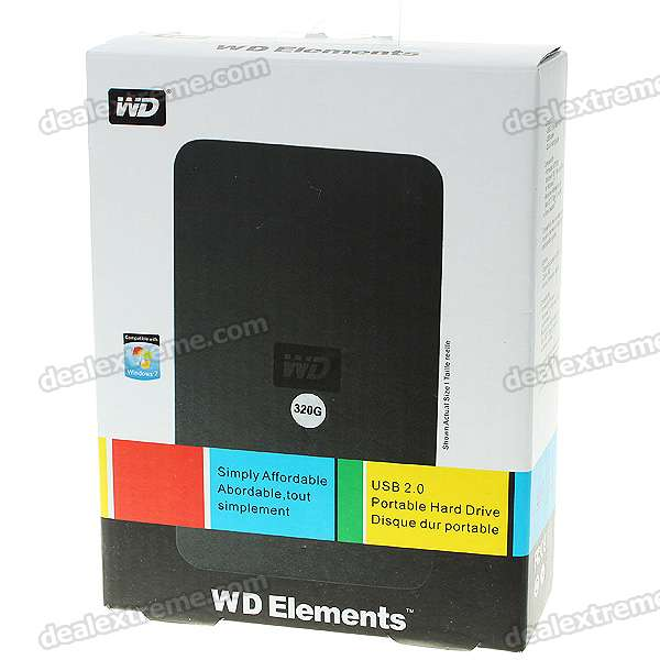 "Genuine WD 2.5"" Hard Drive with External USB 2.0 Enclosure (320GB)"