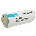 ismartdig 9L Battery with Micro USB Mobile Charger for Canon - White