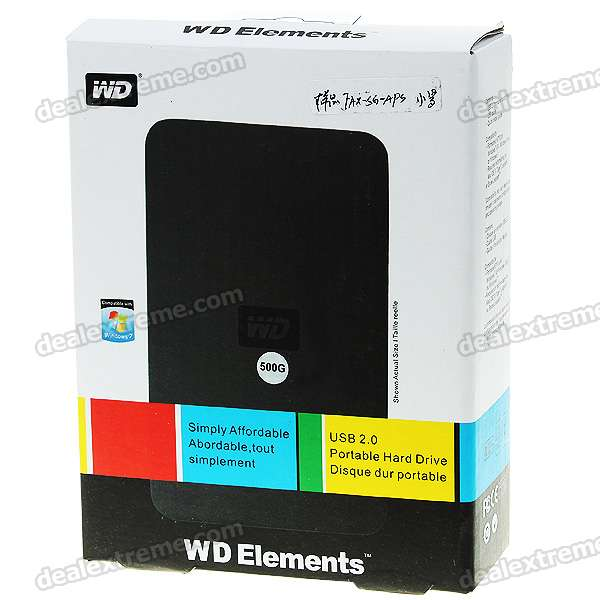 Genuine WD 2.5 Hard Drive with External USB 2.0 Enclosure (500GB) 2 5 sata 500gb hard drive enclosure for xbox 360 slim black