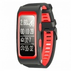 D-Watch Multifunction Waterproof Sports Smart Bracelet - Red