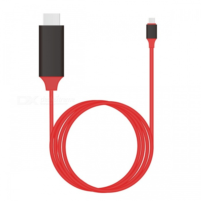 CY U3-342-RE-2.0M Type C USB 3.1 to HDMI 4k 2K HDTV Cable - Red (2m)