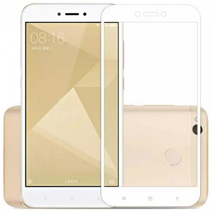 ASLING Tempered Glass Full Cover Film for Redmi 4X -White, Transparent