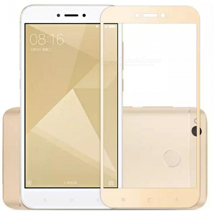 ASLING Tempered Glass Full Cover Film for Redmi 4X - Golden