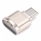 KELIMA Type-C, OTG, Micro SD Card Reader - Golden