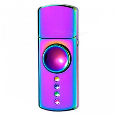ZHAOYAO LED USB Charging Cigarette Lighter Hand Spinner - Colorful