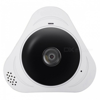 VESKYS 960P 360 Degree HD Full View IP Wi-Fi Camera - White (EU Plug)