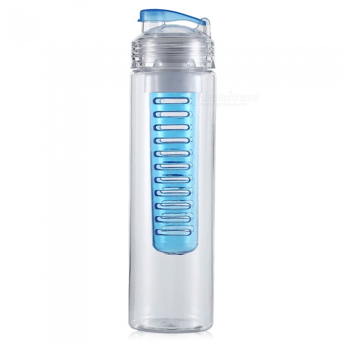 Outdoor Riding Mountaineering Fishing 800ml Sports Bottle - Blue