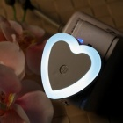 SZFC Heart Shaped Light Sensor LED Small Night Lamp, US Plugs - White