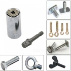 SZFC 7mm to 19mm Ratchet Universal Sockets Juego de adaptador de perforación métrica