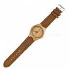 Redear Wooden Analog Quartz Lightweight Handmade Wood Wrist Watch