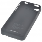 """1900mAh"" Rechargeable External Battery Back Case for iPhone 4 - Black"
