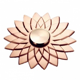 ZHAOYAO Lotus Shaped Finger Toy Hand Spinner - Rose Gold