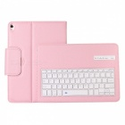 Tablet PC Bluetooth Keyboard PU Leather Case for IPAD Pro 10.5 - Pink