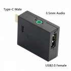CY UC-027 USB 3.1 Audio Jack 3,5 mm, adaptér USB 2.0 OTG