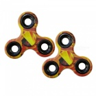 Dayspirit Flame Pattern Tri Toy EDC Hand Spinners - Yellow (2PCS)