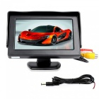 4.3 inch Sun Shade Car Display with Butterfly Style Car Camera