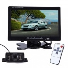 7 inches LCD with Short License Plate Car Reversing Camera Set - Black