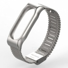 Stainless Steel Metal Mesh Watch Strap for Xiaomi Miband 2 - Silver