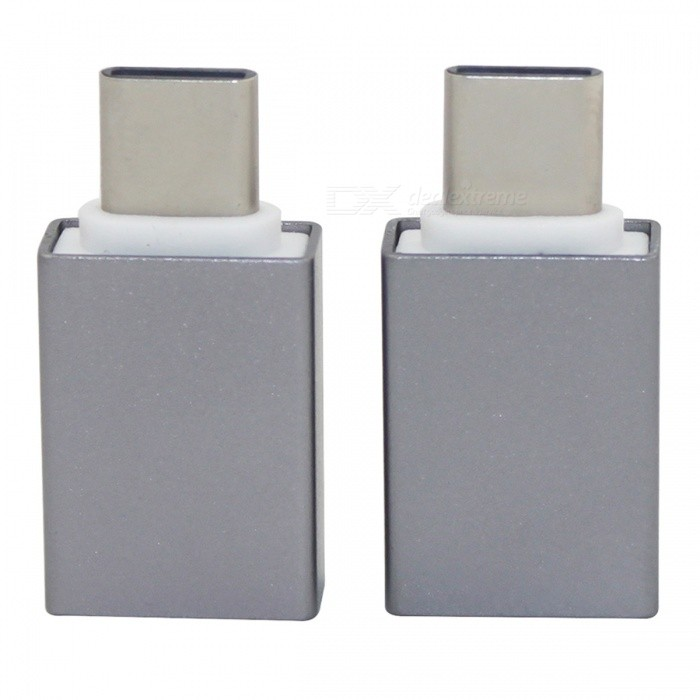 Mini Smile Type-C Male to USB 3.0 Female OTG Adapter for Huawei (2PCS)Adapters &amp; Converters<br>Form  ColorGreyModelN/AMaterialAluminum alloyQuantity2 piecesCompatible ModelsHuawei Nova / P9 / P10 / Mate 9 ect.Main FunctionsOTGConnectorType-CCable Length3 cmPacking List2 x Adapters<br>