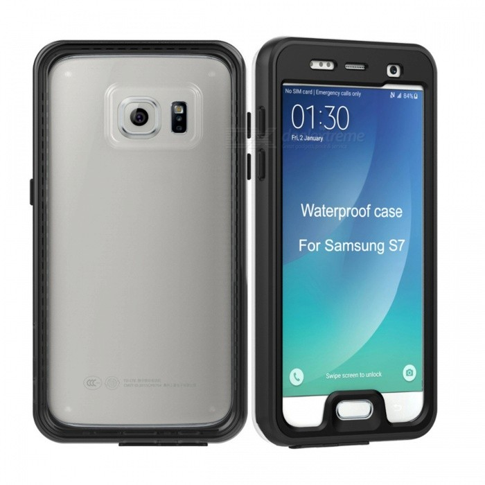 waterproof swimming diving case for samsung galaxy s7 black free shipping dealextreme. Black Bedroom Furniture Sets. Home Design Ideas