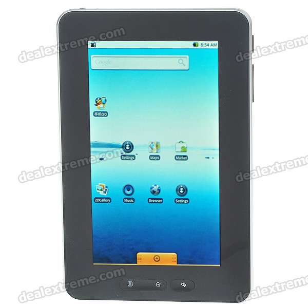 "7"" Touch Screen TFT LCD Google Android 2.1 Tablet PC w/ WiFi (ARMv6 rev 6/499.71MHz)"