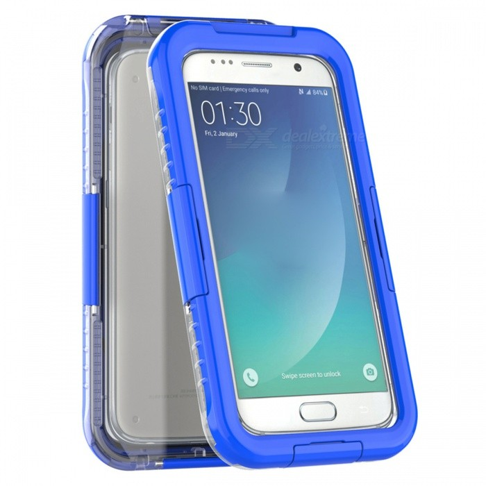 waterproof swimming diving case for samsung galaxy s7 blue free shipping dealextreme. Black Bedroom Furniture Sets. Home Design Ideas