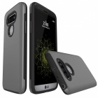 Protective Wire Drawing PC, TPU Back Case for LG G5 - Grey