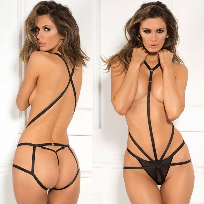 7ce874ac5 Three Point Rope Tied Temptation Sexy Lingerie Suit - Black - Free ...